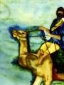 sanenzo-kunst-aquarel-ruiter-op-kameel
