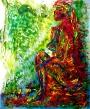 sanenzo-kunst-fluor-girl-65x50-gemengde-techniek