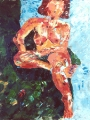sanenzo-kunst-overigen-olie-op-doek-blauwgroen-naakt